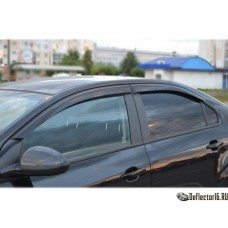 Дефлекторы боковых окон для Chevrolet Aveo II (Шевроле Авео 2) 2012+