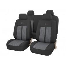 Авточехлы универсальные GTL MODERN черный/серый