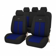 Авточехлы универсальные GTL MODERN черный/синий