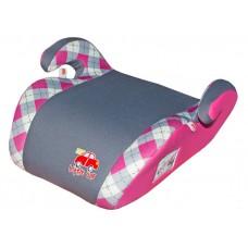 Бустер детский 22-36 кг. LITTLE CAR Smart клетка розовый