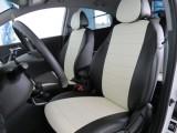 """Авточехлы """"Автопилот"""" установка на   Hyundai Solaris I (2010-2017) черный+белый"""