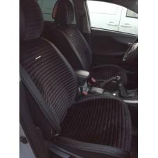 Накидки из алькантары Monaco на передние сидения черный 2 шт.