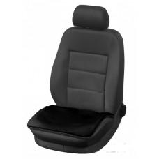 Накидка на сиденье (квадрат) из искусственного меха короткий ворс 1 шт. черный