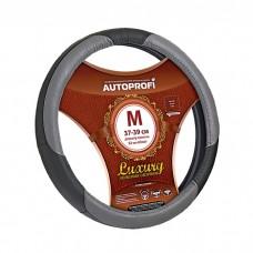 Кожаная оплётка на руль Autoprofi AP-1010 M