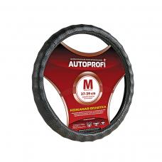 Кожаная оплётка на руль Autoprofi AP-1030 M черный
